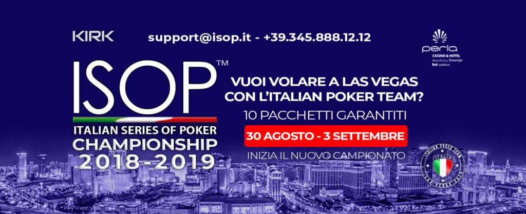 torneo poker isop 30 agosto 3 settembre