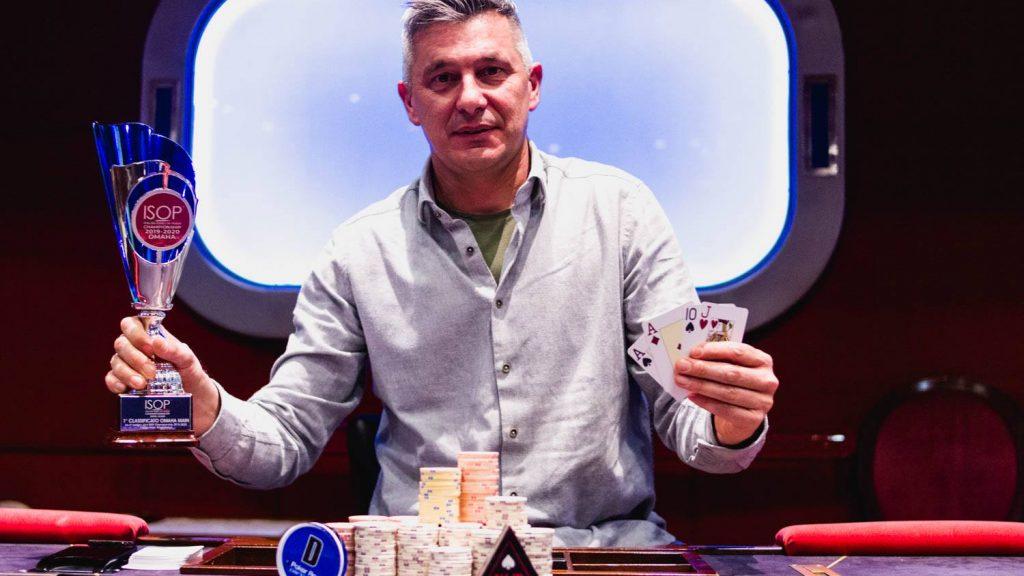 Stefano Cattelan Omaha ISOP Italian Series Of Poker